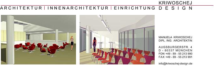 Kriwoschej design architektur innenarchitektur for Design einrichtung munchen